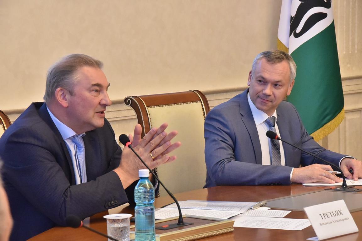 Андрей Травников и Владислав Третьяк провели совещание по подготовке к проведению молодёжного Чемпионата мира по хоккею в Новосибирске в 2023 году