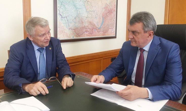 Сергей Меняйло обсудил с Валентином Пармоном концепцию комплексного плана развития СО РАН