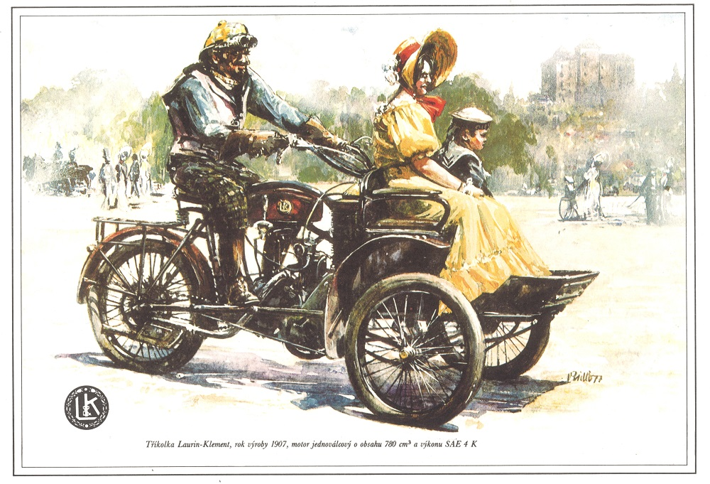 ŠKODA 125 лет назад: трёхколесный Laurin & Klement LW