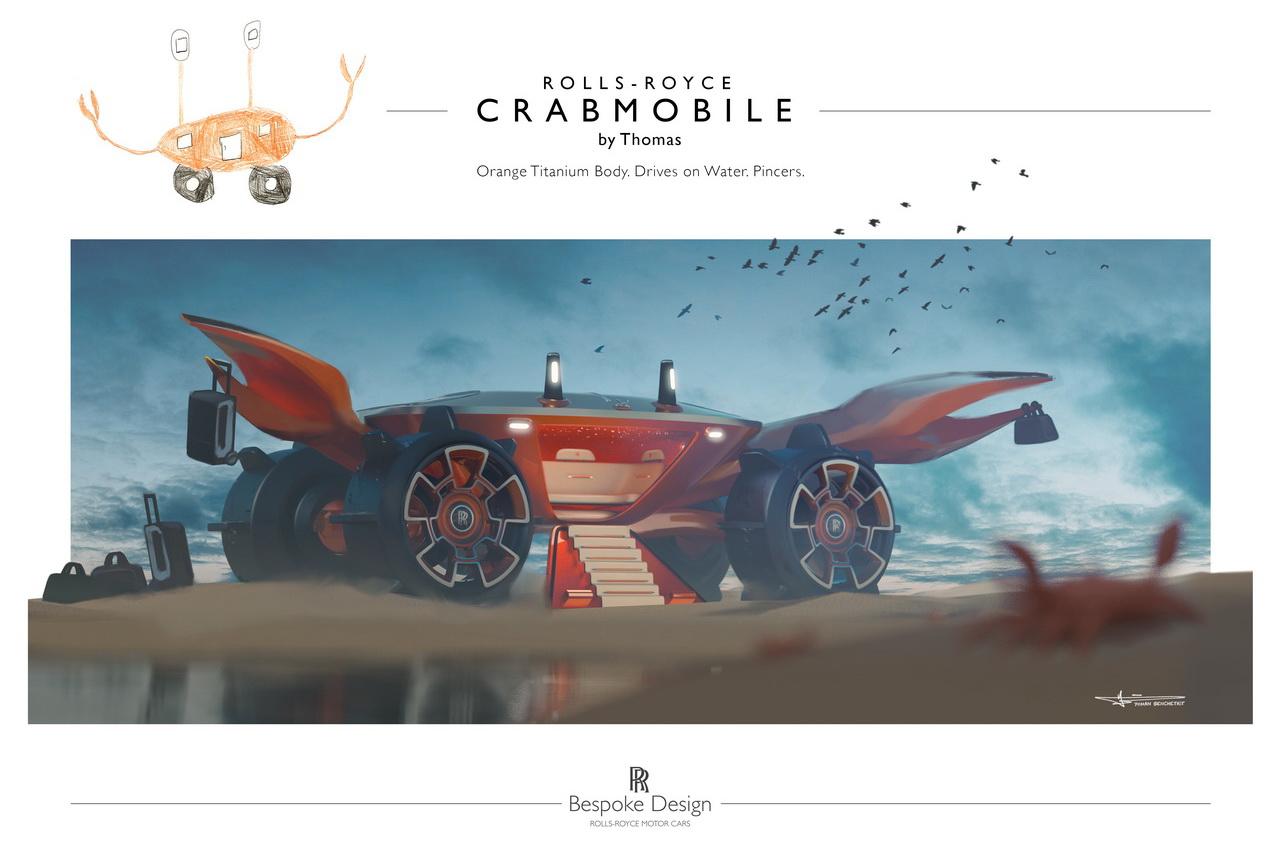 Rolls-Royce отвезёт в школу лучшего юного дизайнера в первый день учёбы